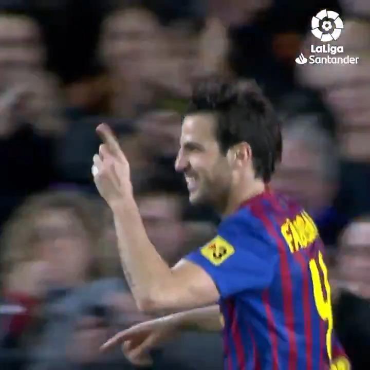 ⚽️ 3' Cesc  ⚽️ 33' Cesc   #OnThisDay 9 years ago, @cesc4official scored this brace in a 5-0 win for @FCBarcelona in #LaLigaSantander! 💙🎩❤️