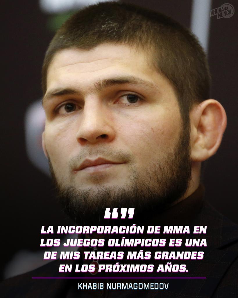 ¿MMA como deporte olímpico? 🥇  @TeamKhabib está enfocado en hacerlo una realidad. 👊  #MMA #Olympics https://t.co/3emUckkuMm