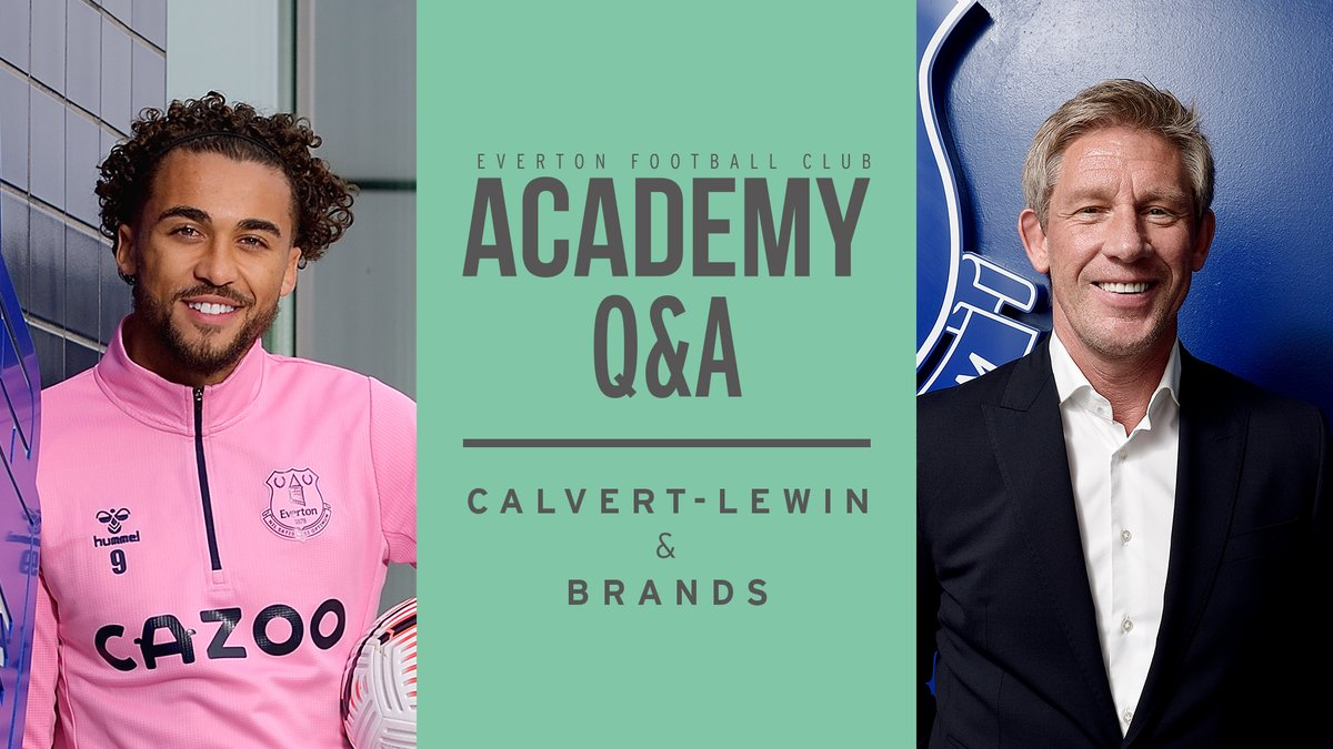 💈 Best haircut? 🙌 The lawnmower celebration... ⚽️ All-time favourite player? 🎤 Can you sing Spirit of the Blues?  📺 Watch as @CalvertLewin14 and Director of Football Marcel Brands get quizzed by @EvertonAcademy players... #EFC 🔵