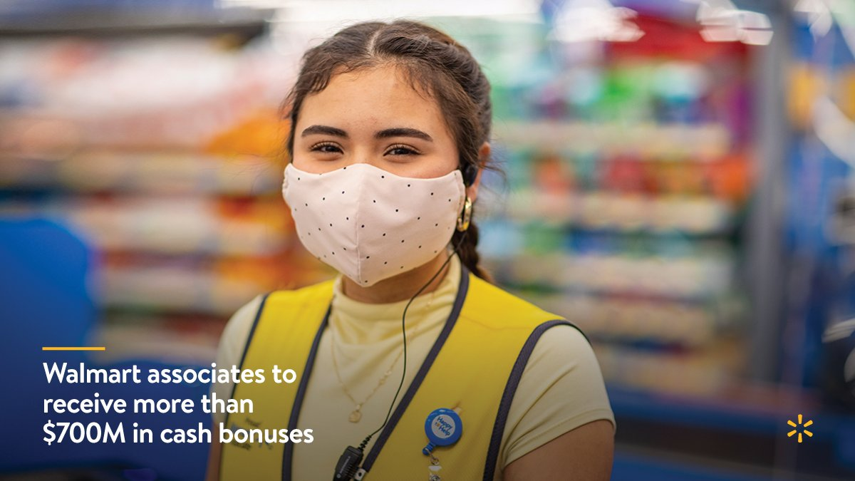 We're showing U.S. associates we appreciate all they've done for our customers, members and country in 2020 by paying cash bonuses for the fourth time this year – this time, totaling over $700M. More about how we're supporting associates here: