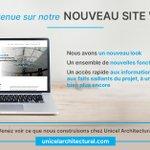 Image for the Tweet beginning: Bienvenue sur notre nouveau site