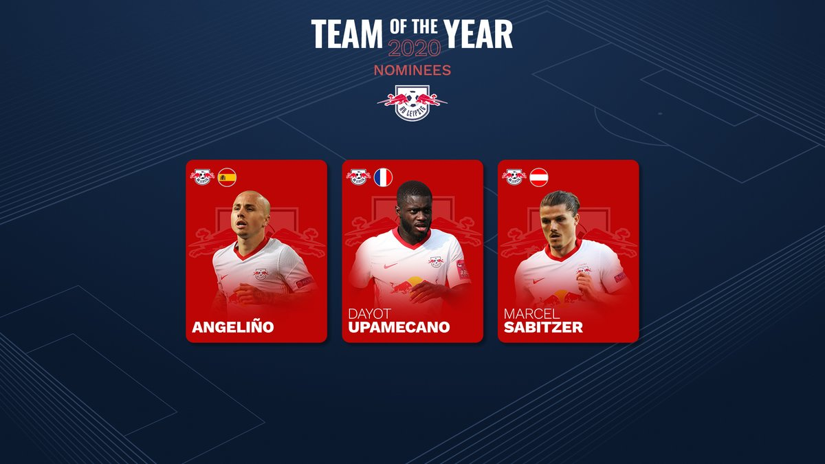 🙌 @angel_tasende69, Dayot #Upamecano and Marcel #Sabitzer are among 50 players nominated for the UEFA Men's #TeamOfTheYear!  Fans have until January to submit their XI, with prizes including tickets to the men's and women's #UCL finals 🤩  Enter now! 🗳️