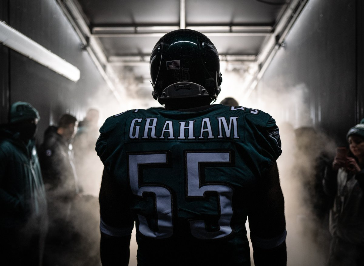 On Sunday, Brandon Graham will play in his 155th career game with the @Eagles, tying Trent Cole (2005-14) for the most games played by any defensive lineman in franchise history. #FlyEaglesFly