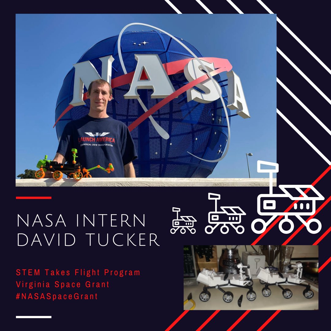 Check out the full story on @vaspacegrant & @NASAInterns student David Tucker!  📰: https://t.co/DDwjUjJbPs  #NontraditionalStudent 🍎 #NextGenerationOfExplorers 👩🏽‍🏭👩🏿‍🚀👩🏻‍🔬 #SousChefToNASA 👨🏼‍🍳🚀 #NASAIntern ⚙️ #NASASpaceGrant 🛰️ #STEMTakesFlight ✈️  📸: Megan Guethe https://t.co/8lzA1OOBEN