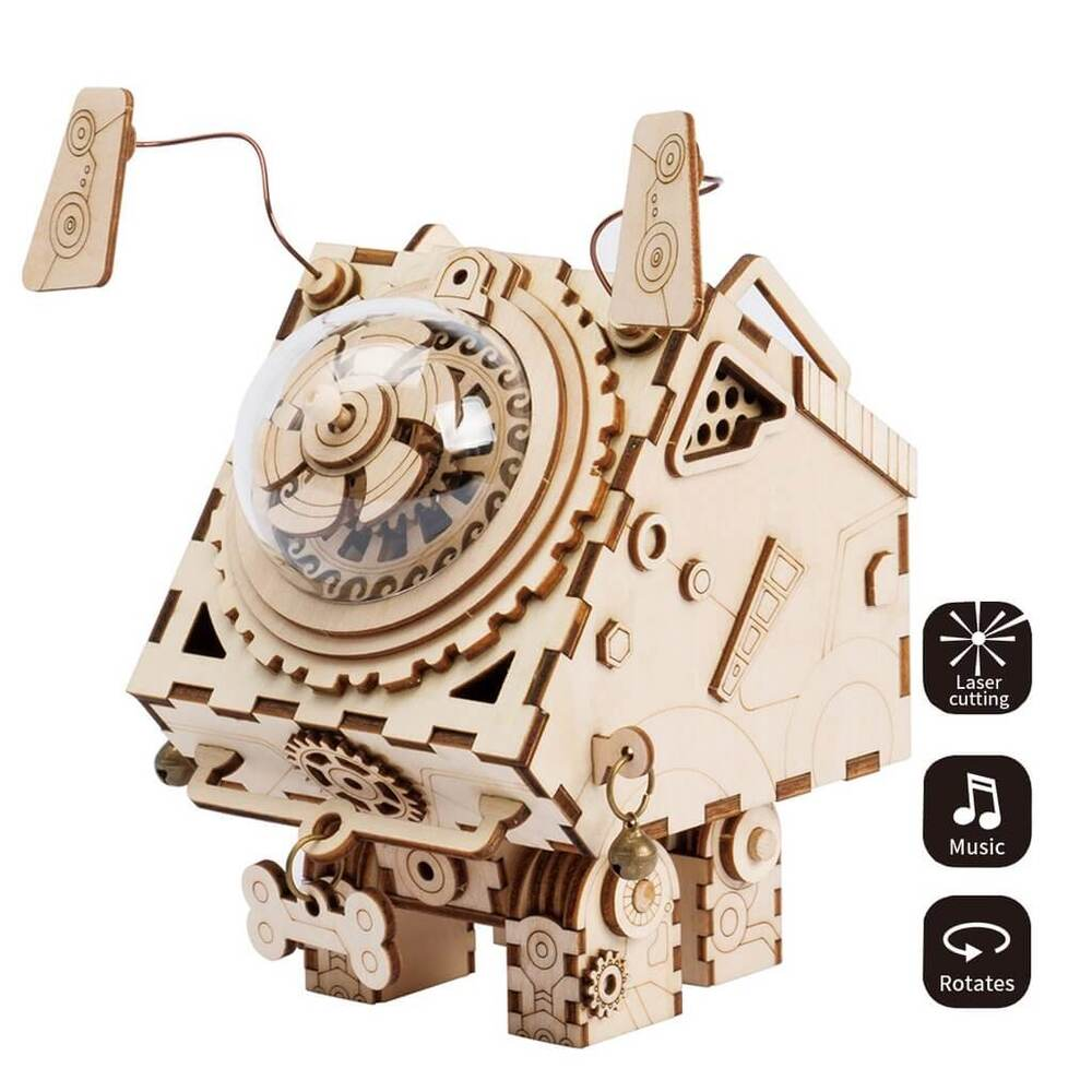 https://t.co/BxZjLCI6Fo Robotime Steampunk DIY Music Box Seymour #seymour #robotime #musicbox #steampunk #bethecoolestgiftgiver