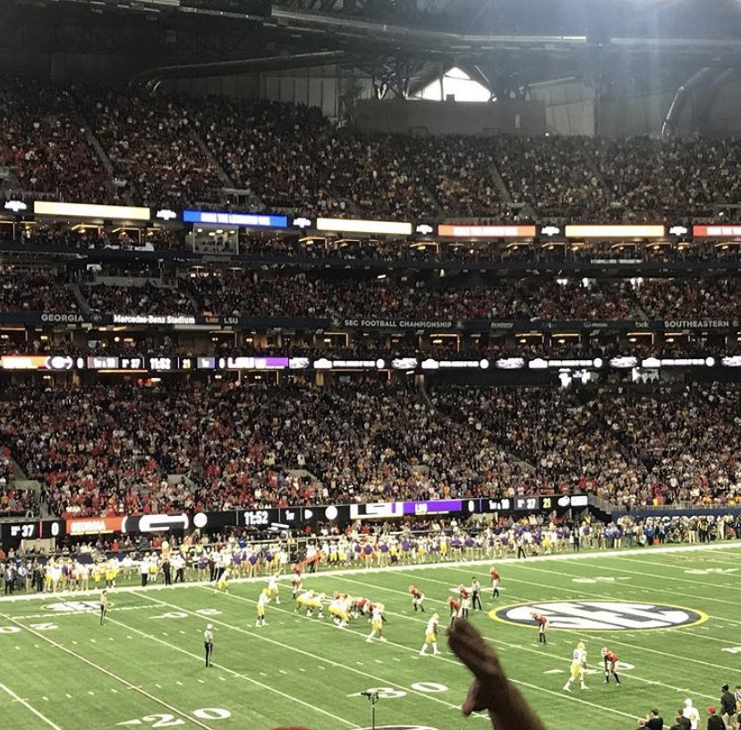@TheStanchion @RobFai For me it was seeing Joe Burrow and the greatest college football team possibly ever beat Georgia in the SEC Championship game last year. What a game, what a team LSU were. Flew from Vancouver to Atlanta for it and have no regrets. https://t.co/NMMIxrVf3R
