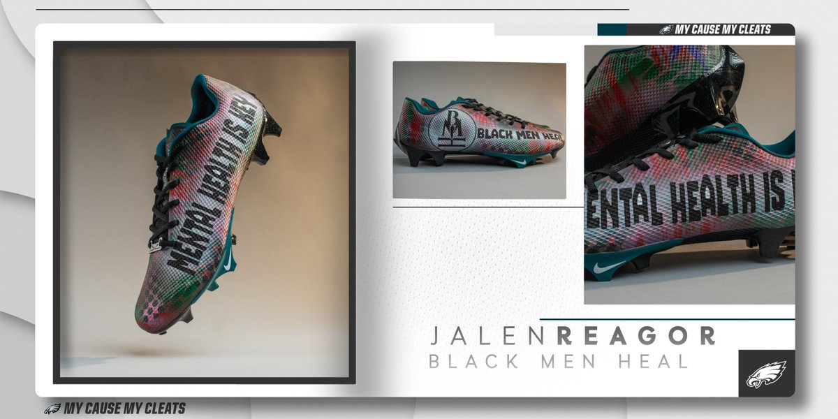 .@jalenreagor is bringing awareness to @blackmenheal, a local organization that provides free mental health services for Black men and aims to remove the stigma associated with seeking treatment.  #MyCauseMyCleats