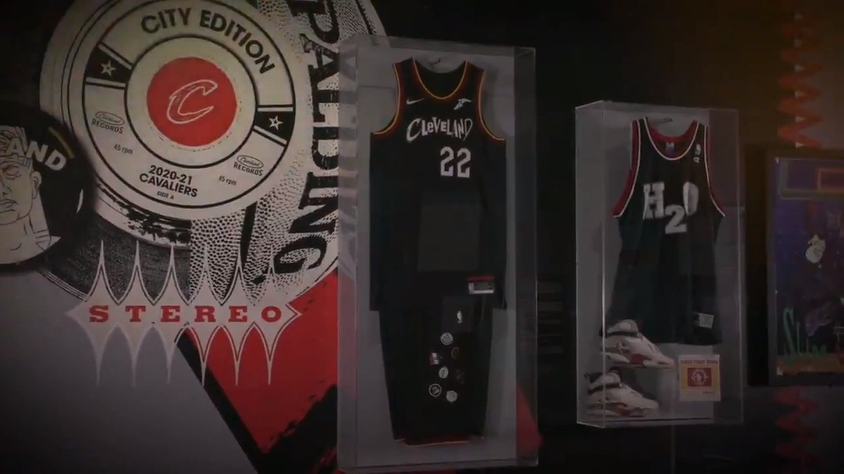 Long live the connection between Cleveland's passion for music and sports. Now on display in our #ClevelandAmplified exhibit. Learn more about our @Cavs city jersey partnership on