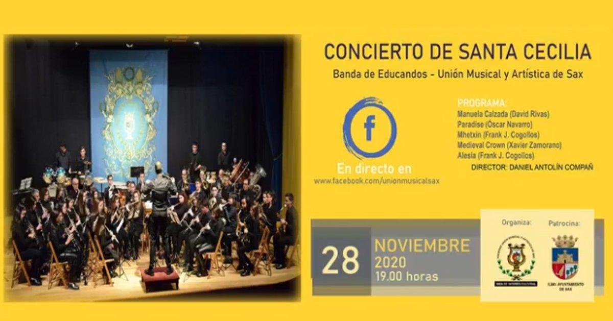 Si no pudiste ver en directo el concierto de Santa Cecilia de la Banda de Educandos del pasado sábado, aquí lo puedes volver a ver. 🎷🎼🥁📯🎺  👇🏼👇🏼👇🏼👇🏼👇🏼👇🏼 https://t.co/EKVIfdiO1X https://t.co/1knk41CBUf