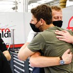 So heartwarming ❤️❤️  Romain and his race engineer Dom embrace for the first time since Sunday's incident.   #HaasF1 #SakhirGP