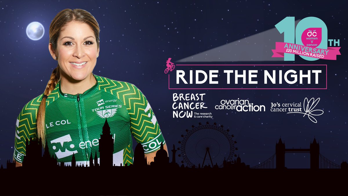 We are so glad to hear that Rebecca Charlton will be participating in Women v Cancer's Ride the Night! Thank you so much for helping to raise awareness so that other women can recognise the signs of this disease 💪 https://t.co/FtyR0Bq3LK