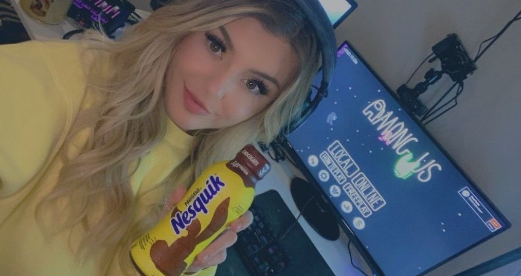 BrookeAB - Among Us with friends RIGHT NOW! Sipping @Nesquik while I spot imposters! Come watch :)  #Sponsored