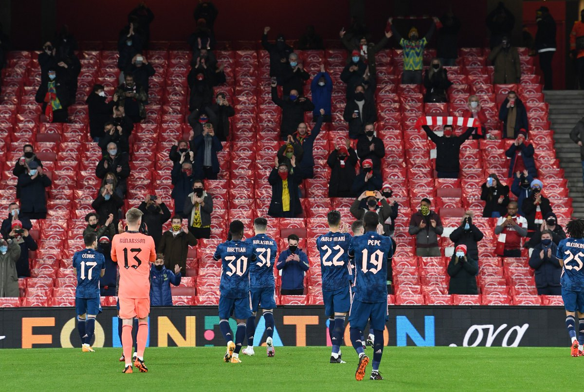 To the 2,000 fans inside Emirates Stadium tonight and our supporters around the world.   𝗧𝗵𝗮𝗻𝗸 𝘆𝗼𝘂 ❤️