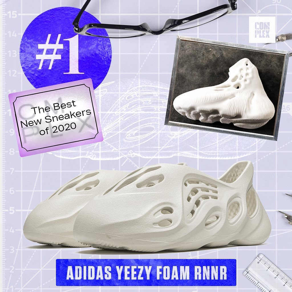 .@Complex has named the Yeezy Foam Runner the #1 Best New Sneaker of 2020 🔥