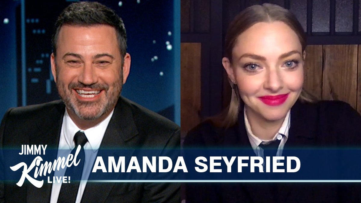 .@AmandaSeyfried dressed up in a bear costume to scare her husband in the woods… 🐻🤣