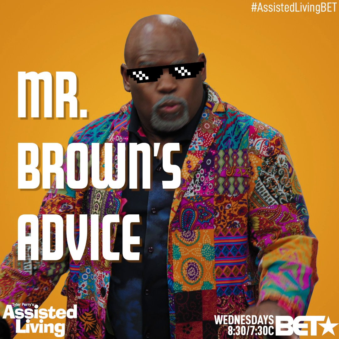 Professor Brown is teaching all the tricks. 😂 Catch an All-New #AssistedLivingBET NEXT WEDNESDAY 8:30/7:30c!