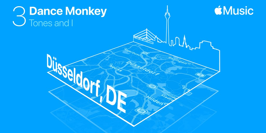 #DanceMonkey by @tonesandimusic was first discovered with Shazam in Düsseldorf, DE & is number 3 on @AppleMusic's Global Top 100 of 2020: