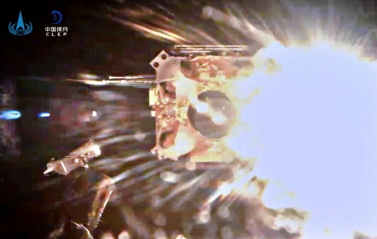 China's #ChangE5 probe blasts off from the moon, bringing back a full load of lunar samples: https://t.co/4WIV8tO40y H/T @AJ_FI @PhHaines @CNSA_en @CCTV