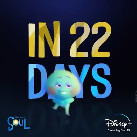 In 2️⃣2️⃣ days, meet 2️⃣2️⃣, voiced by Tina Fey. Disney and Pixar's Soul is streaming only on #DisneyPlus starting December 25. #PixarSoul