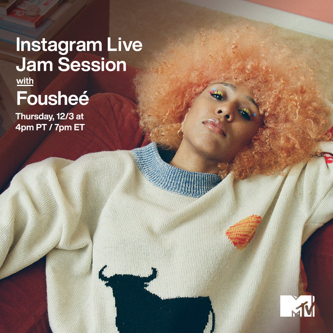 "You've heard @FousheeLive's song ""Deep End"" on TikTok, now you can watch her perform LIVE today! ✨  Catch her on our #MTVJamSession at 4p PT / 7p ET on MTV's IG Live."