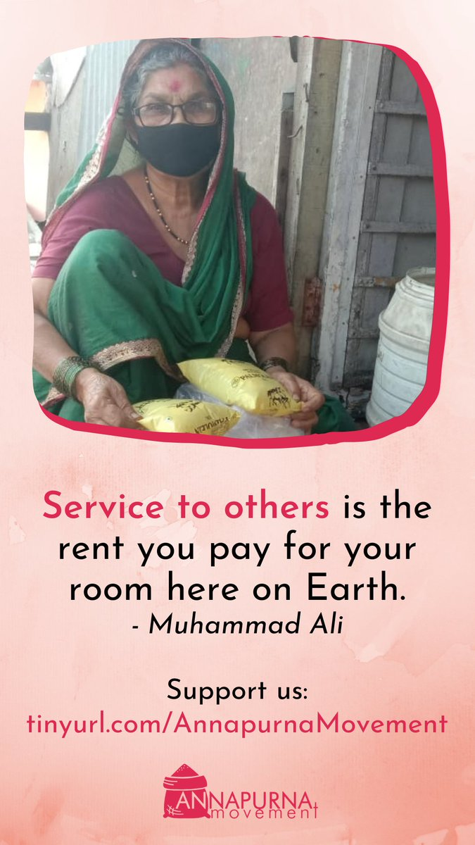 """Service to others is the rent you pay for your room here on Earth."" - Muhammad Ali   Support us:  #charity #dogood #foodforall #endhunger #ZeroHunger #fundraiser #fundraising"