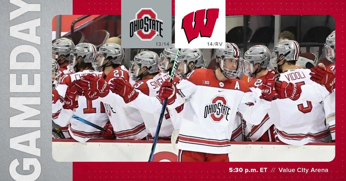 🏒 B1G series. Game one vs. the Badgers tonight.   🕰️ 5:30 p.m. 📍 @TheSchott  📻Ohio State Radio 1460 AM  💻📱 BTN Plus ($) 📊 https://t.co/QKTLQEXGeg 🔗https://t.co/sEIAoJckBR  #GoBuckeyes https://t.co/8jV2m99ZXp