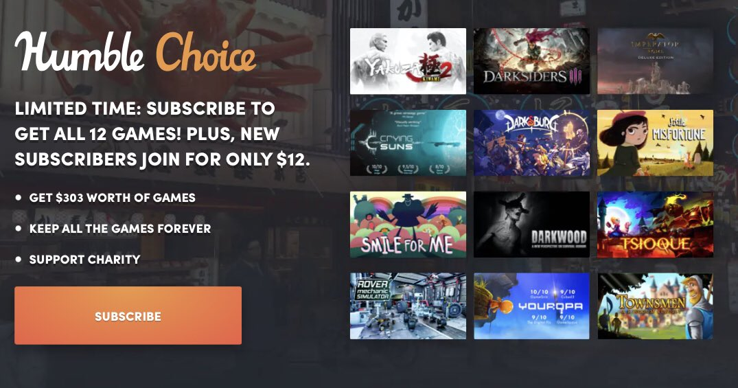 Last day to get November Humble Choice 2