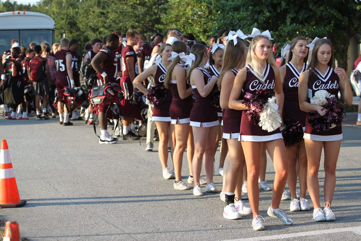 """REMINDER: The Cadet Walk will begin at the point where the buses turn into the Memorial Stadium parking lot and it will begin at 6:05 p.m. Friday. Please be there early enough to get a spot to form a """"tunnel"""" of fans for our Cadets. #thebc400 #LOVE #Savannah https://t.co/dslChUjnOi"""