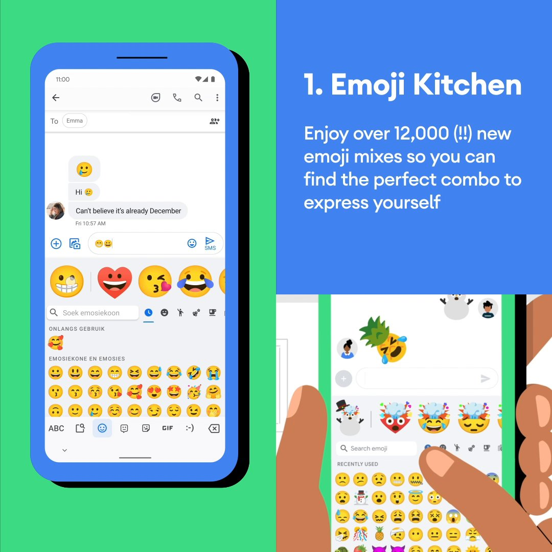 'Tis the season for more helpful features on your #Android phone. See what's new with Emoji Kitchen, Voice Access, auto-narrated audiobooks, Go Tab in Google Maps and more:
