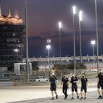 What a place for your first pre-F1 race track walk, @PiFitti 😍  Floodlight @BAH_Int_Circuit is pretty spectacular 👌  #HaasF1