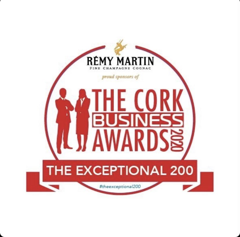 Many thanks to @BusinessCork for this award , some very heavy hitters included in the exceptional 200 , delighted to be part of the 200 #decembertoremember #theexceptional200 #cork #corkcity https://t.co/pmrQ7U0Md1