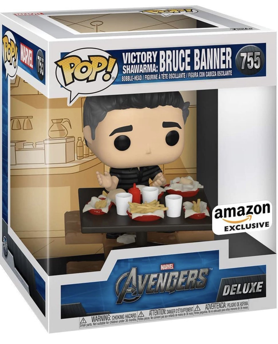 Preorder Now: Amazon exclusive Victory Shawarma  - Bruce Banner! #Funko #Marvel #Ad .