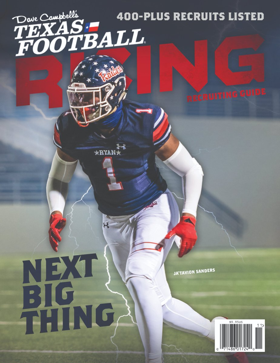 CONGRATS to ⭐️⭐️⭐️⭐️⭐️ @Jatavionsanders on being the Coverboy of the 2020 Dave Campbell's Texas Football Rising Magazine!  ORDER HERE: https://t.co/IS9faBY7Px  Press release: https://t.co/5LxQoCZyd2  #txhsfb https://t.co/QfJ2a2kfD2