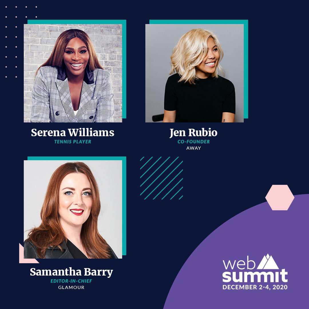 Tune in later today for my @websummit chat with @jennifer from @away and @samanthabarry! #WebSummit2020