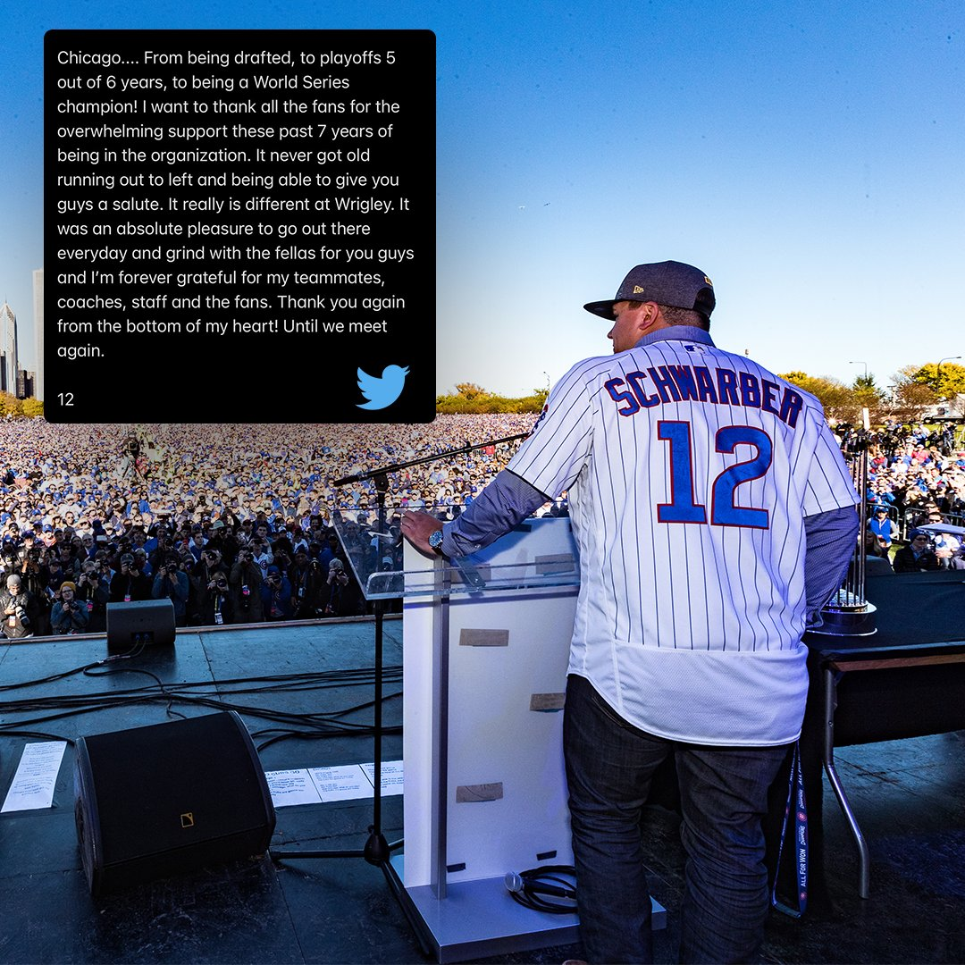 Replying to @WatchMarquee: Kyle Schwarber thanks @Cubs fans.