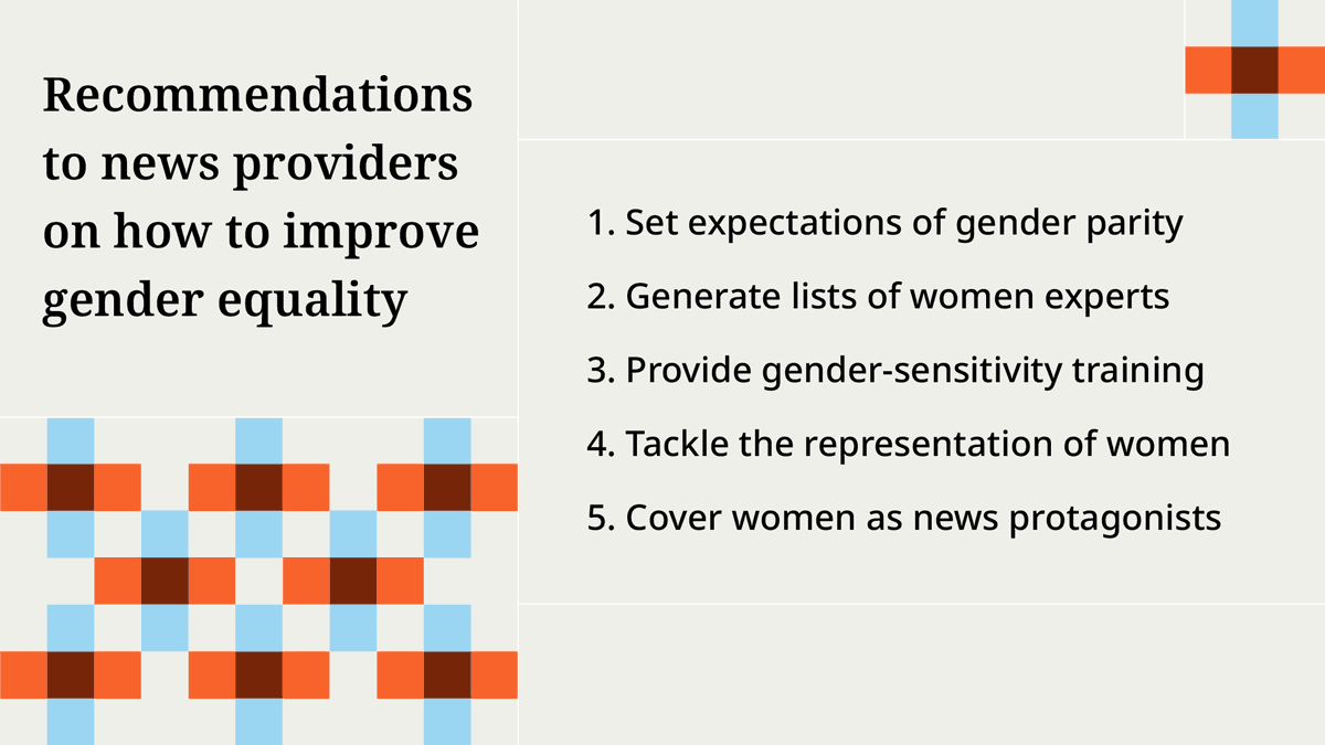 There are steps that media organizations can take to help increase women's visibility in the news.