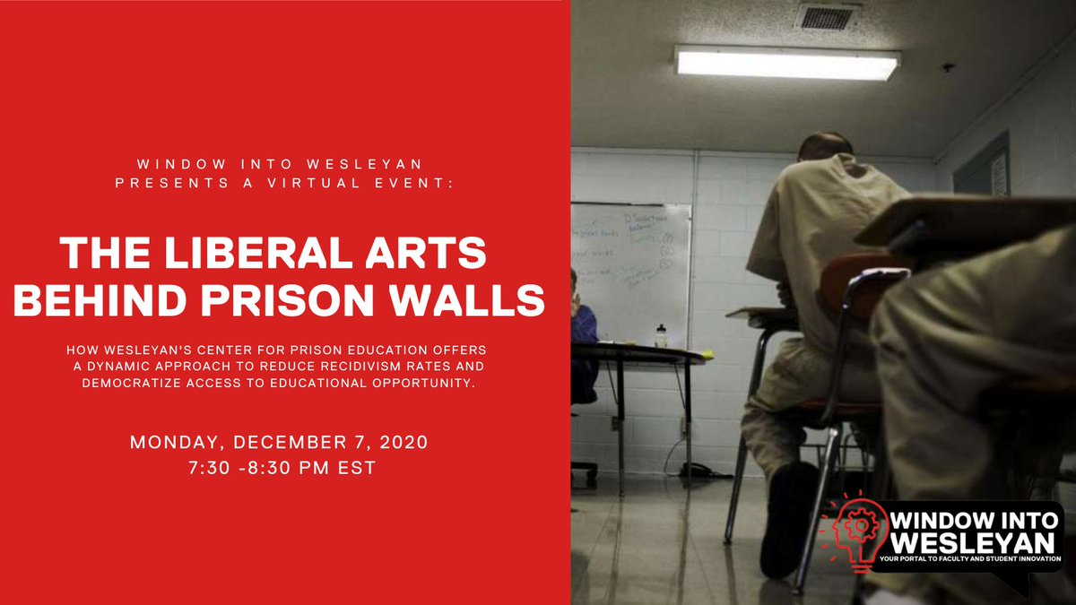 """test Twitter Media - #WindowIntoWesleyan presents """"The Liberal Arts Behind Prison Walls,"""" a virtual event about Wes's Center for Prison Education program. Hear from faculty and student participants about their experiences in the program.   Dec. 7, 7:30pm: https://t.co/iWPmZXgLdA.  (via @wes_alumni) https://t.co/IvIZyL4ub8"""