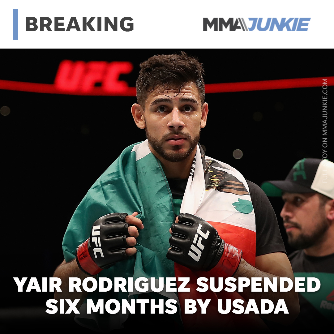 USADA suspends UFC featherweight Yair Rodriguez six months for 'whereabouts failures'  Full story: https://t.co/OKKi8D2Jdk https://t.co/yWLI2fCgNA