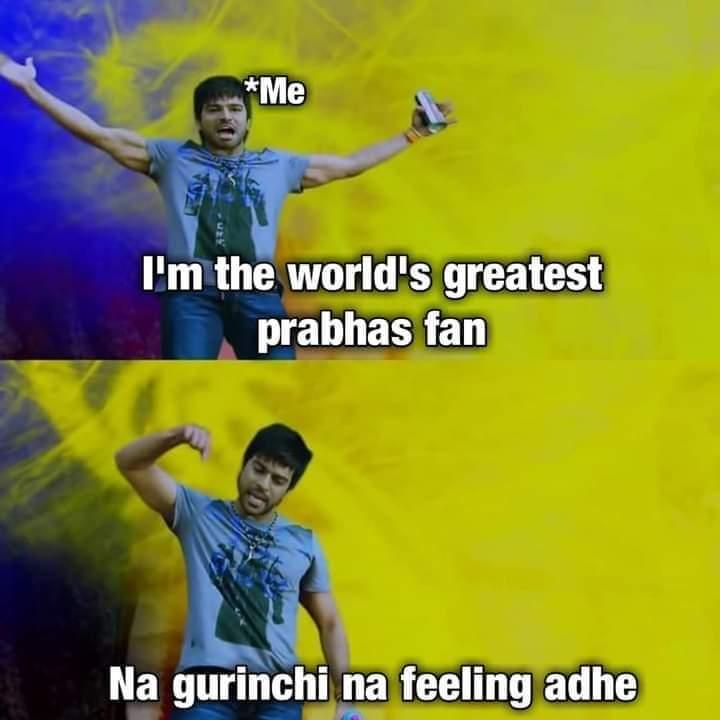 I'm the world's greatest #Prabhas fan❤  Me:- Na gurinchi na feeling adhe😎  #RadheShyam #Adipurush #SALAAR  #Prabhas