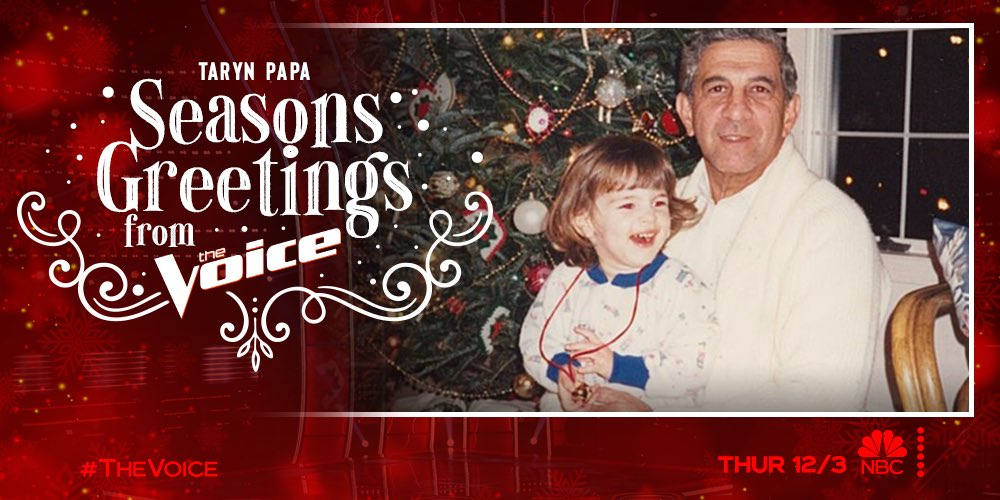 Throwback to December 10, 1991! ❄️ Start celebrating the holidays by watching #TheVoice Holiday Celebration TONIGHT 8/7c on @nbc. A certain someone is kicking off the Top 20 holiday song! 😉 Seasons Greetings from my late grandfather and I! ♥️  #TeamBlake @nbcthevoice #paparazzi