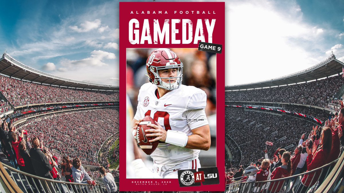 The Tide is headed to Baton Rouge this weekend.   View your @AlabamaFTBL program here 📲 https://t.co/ZHh03sticA https://t.co/zGeZndybYH