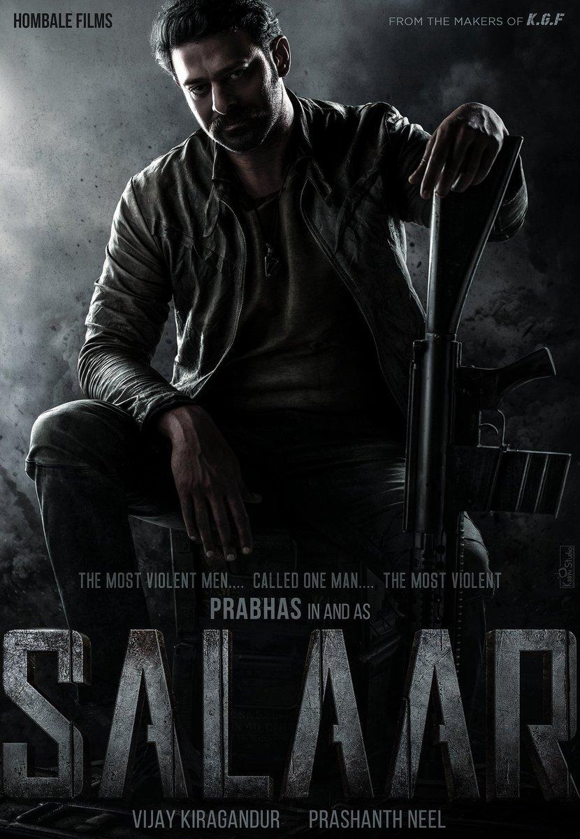 "#Prabhas in #SALAAR THE MOST VIOLENT MEN.. CALLED ONE MAN.. THE MOST VIOLENT!! Revealing our next Indian Film, an Action Saga. @VKiragandur @prashanth_neel   ""Andhra Telangana oopiri pilchuko mee mass prabhas vochadu meeru wait chestunna rebelstar tirigochadu""🔥💥⚡🌟"