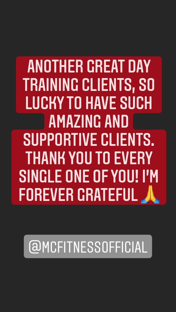 THANK YOU ❤️  #grateful #fitness #personaltrainer #health #wellbeing #workout #gym https://t.co/Nd86lRMIR5