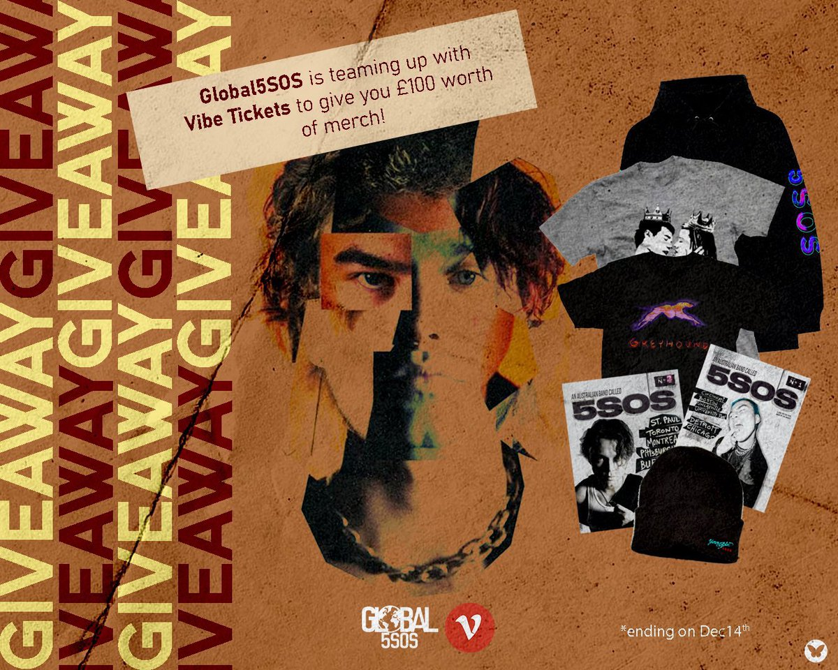 #9Yearsof5SOS!! 💚🥳  We have a special anniversary giveaway! 🎁   You can win £100 worth of either 5SOS or Ashton's merch! 🤩   All you have to do is follow us, @VibeTickets & @VibePay and of course RT this tweet. Giveaway is WORLDWIDE 🌎🌍🌏 & ends on Dec 14! 🥳   Good Luck! 🍀