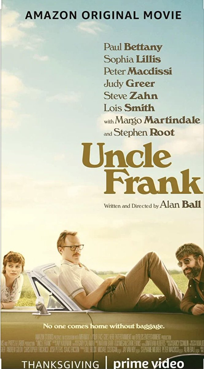 New recomendation!! Like it!! #PrimeVideo #UncleFrank #movie #yourlife #WearAMask #amazon https://t.co/2Pulo0lbqg