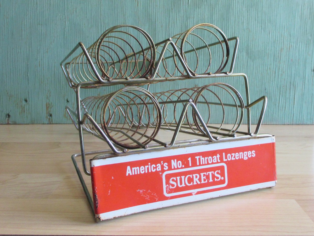 Vintage Store Display, Sucrets Metal Pharmacy Drugstore Counter Advertising Rack, Rusty Industrial Photo Prop or Art Supply Storage https://t.co/aAitK4YJ10 #EtsyVintage #VintageVibes #HolidayShopping #VintageAddict #ShopSmall2020 #VintageChristmas https://t.co/LM89xkOjFJ