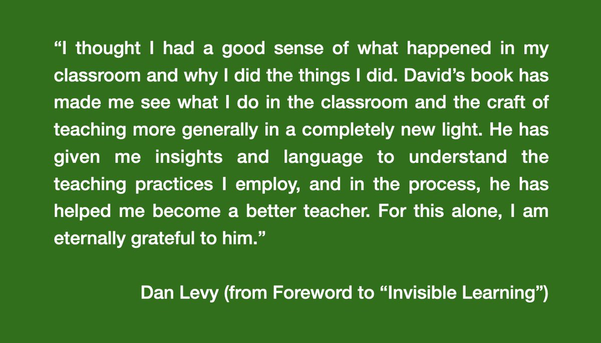 David Franklin (@econdavid) wrote an excellent book about his experience as a student and teaching assistant in a course I teach. I am beyond grateful to him for all the insights he has given me about teaching, statistics and leadership. Check it out! #InvisibleLearning https://t.co/3QNkRN1V5A https://t.co/0FS1BjgRHI