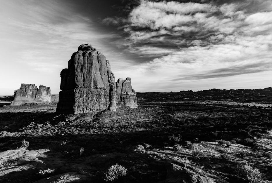 015 Arches National Park, The Organ #blackandwhite #travel
