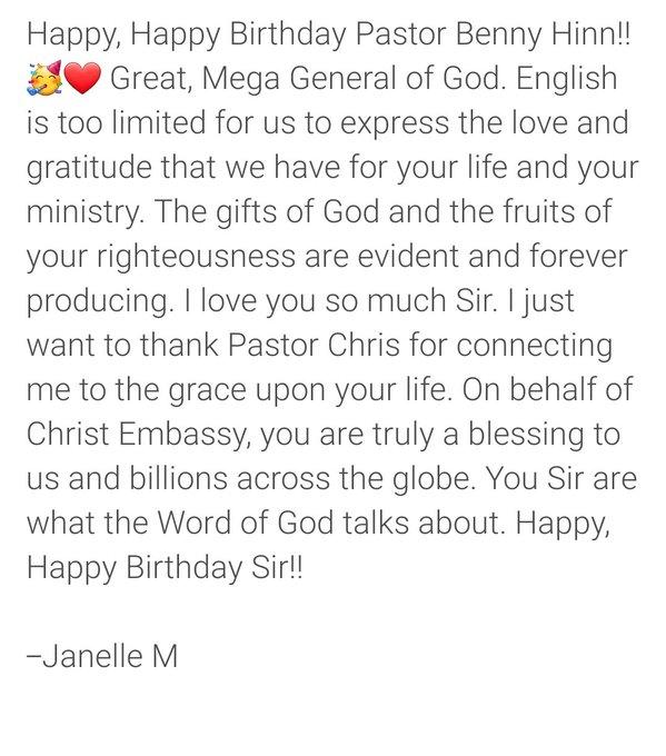 Happy, Happy Birthday Pastor