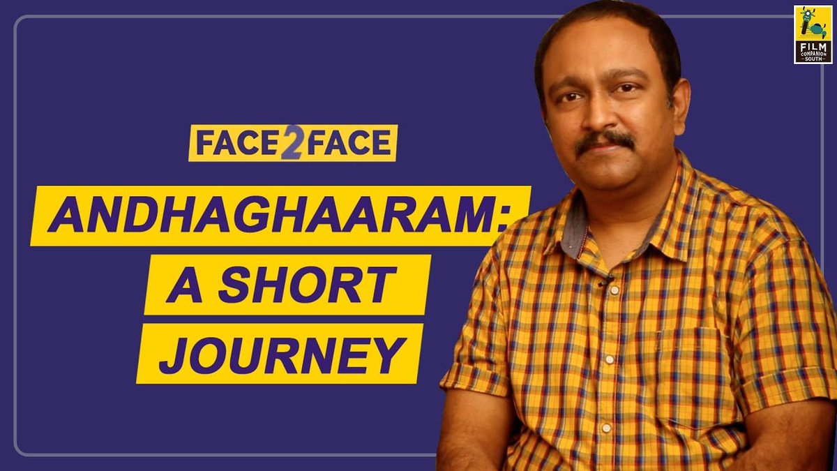 . @vvignarajan the director of #Andhaghaaram talks to @baradwajrangan about specific scenes from the film. He talks about the techniques, how a location can enhance the performance of an actor, the reason behind the slowness of the film, and more...